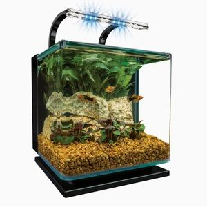 🐠MarineLand Contour Glass Aquarium Kit w/LED Lite